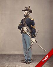 US CIVIL WAR UNION CAVALRY CORPORAL SOLDIER A SWORD PHOTOGRAPH REAL CANVAS PRINT