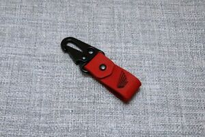 Honda Motorcycle Racing Leather Keychain Collectables Key Wing Keyring Gift Hrc