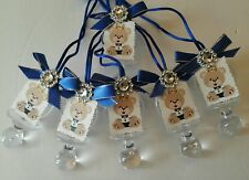 Royal Baby Pacifier favor Baby shower, birthday 36pcs keepsake in blue for boy.