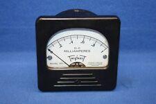 Triplett 327-T 0-1 Dc Millamperes 3 1/2 Square Panel Meter