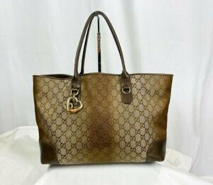 Gucci Ombre Brown & Gold GG Tote Bag
