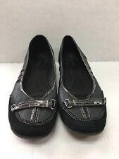 Merona Womens Slip On Clog Shoes Size 9.5 Black Career Casual