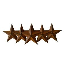5-1/2-Inch Metal Barn Star Country Crafts, Home and Garden Decoration Set of 6