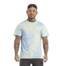 GINGTTO Tie Dye T-Shirt Men Unisex Short Sleeve Slim Fit CamouflageTee Hipster