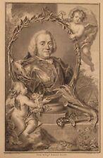 1750 antique print Willem Carel Hendrik Friso/Gerard Sanders/P.Tanje William IV