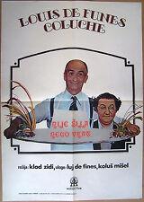 L'AILE OU LA CUISSE-LOUIS DE FUNES/COLUCHE-ORIGINAL YUGOSLAV MOVIE POSTER 1978