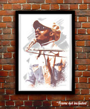 Stevie Wonder watercolor painting art print/poster Free S&H!