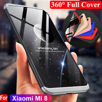 Shockproof Hybrid Hard PC+Tempered Glass Film 360° Case Cover for Xiaomi Mi 8 SE