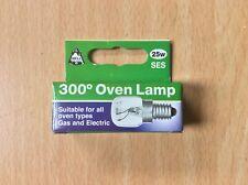 Bell Oven Bulb - 300 Degrees - Screw - 25 Watts SES/E14 - Free Post