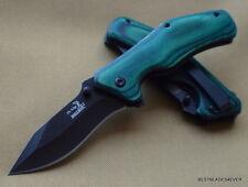 ELK RIDGE GREEN WOOD HANDLE SPRING ASSISTED KNIFE W/ POCKET CLIP **RAZOR SHARP**