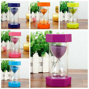 5/15/30min Sandglass Hourglass Sand Clock Egg Kitchen Timer Supplies Kid Game UK
