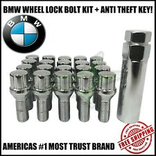 20 BMW LUG BOLT LOCK SET + 1 KEY 12x1.5 | 4 MOST M3 M5 335 135 E46 F10 F30 E36