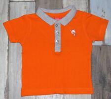 ~ Polo MC orange TISSAIA garçon 6 mois ~ EST36