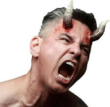DEMONIC HORNS - TWO LATEX PROSTHETIC WOUND APPLICATION HALLOWEEN HORROR