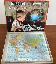 Victory Plywood World Map Puzzle, J W Spear & Sons, Plus Bonus Puzzle