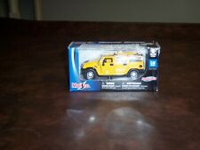 MAISTO - HUMMER H2 - MAISTO - YELLOW - (HTF) - 1/36 SCALE  - POWER RACER - NEW