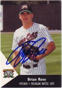 1995 Minor League Brian Rose #24 Auto Autograph - Michigan Battle Cats