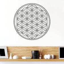 Wandtattoo Blume des Lebens, Kreis, Wandsticker, Wandaufkleber, Wanddekoration