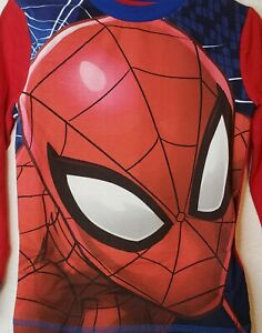 Character.com Boys Spiderman Pajamas Blue and Red Size 5 Marvel PJ's