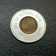 Good Luck Penny Encased 1920 Cent ~ Boston National Bank ~ Lamination Errors