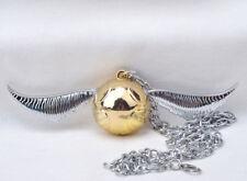 New Harry Potter Golden Snitch Necklace Chain Metal Pendant Otaku Men Kids Gift