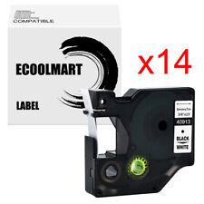 14pk Compatible Dymo D1 40913 Label Tape Labelmanager 450 280 150 Black On White