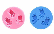 Tulip 3 Cavity Mini Silicone Mold for Fondant, Gum Paste, Chocolate, Crafts