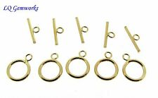 FIVE (5) 14k GOLD FILLED 10mm Toggle Clasps