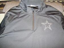 fdd95c5ce04b NFL Dallas Cowboys Nike Platinum Fly Rush 1 4 Zip Golf Wind Jacket Men s  Medium