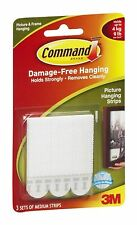 3M 17201 Command Medium Picture Hanging Strips, 3 Sets