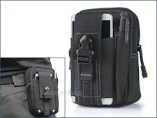 Black MOLLE Tactical Utility Pouch Hiking Mobile Phone Pack Hip Belt Case Bag