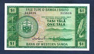 "Samoa Western 1 Tala 1967 P-16a ""Sign. 1 Original Issue"" UNC-"