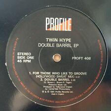 "TWIN HYPE DOUBLE BARREL EP 1991 CLASSIC GOLDEN ERA HIP HOP RAP 12"" VINYL"