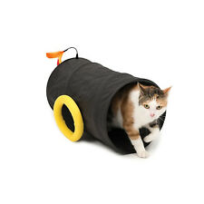 Catit Play Pirates Cat Cannon Tunnel - Foldable Fabric Tunnel with Toy
