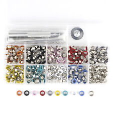 300pcs 5mm Colored Eyelet With Washer Grommet + tool kit leather craft repairing