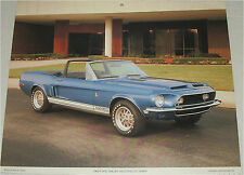1968 Ford Shelby Mustang GT 500KR  Convertible car print (blue, no top)