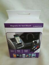 MAGNETIC AIR VENT MOUNT 360 CLIP FOR MOBILE DEVICES UNIVERSAL CELL PHONE HOLDER