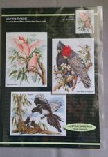 Australian Birds cross stitch chart, 3 designs by Fiona Jude of Country Threads.