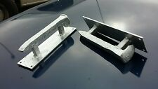 2 Hand Made Bright Silver Old Rail Road Spike Coffin Handles Gate Door Cabinet