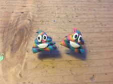 Unicorn Poo Earrings Poop Studs Handmade Emoji Rainbow Cute