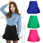 Fashion Women Girls High Waist Pleated Chiffon Fishtail Mini Skirt Prom Dress
