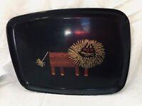 Vintage 60s Couroc Tray Mid Century California Monterey Rare Lion Design