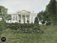 c.1908 White House Washington DC Vintage Photo Dry Plate Glass Negative
