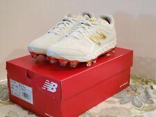 NB Fast Pitch Velo size 9.5  NIB Women White Gold softball cleats SPVELOX1