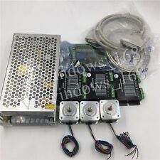 3Axis Nema17 Kit Stepper Motor + Driver+5Axis Breakout Board+Power Supply Cable