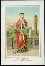 antico santino cromo-holy card S.LUDMILLA