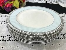 "Set of 6 Charter Club ""Tuilleries - Blue"" Dinner Plates 10 1/2"""