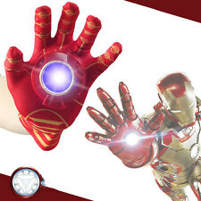 1Pcs The Avengers Iron Man Gauntlet Glove LED Light Toy Kids Gift New 2017 FS!