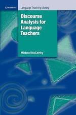 Discourse Analysis for Language Teachers (Cambridge Language Teaching-ExLibrary