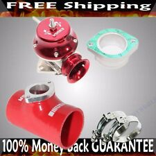 """RED ADJ Type RS Blow off Valve+ 2.5""""  Silicone Type S Adapter+SS Clamps COMBO"""